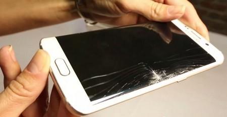 Điện thoại Samsung Galaxy S7 Edge bị nứt mặt kính