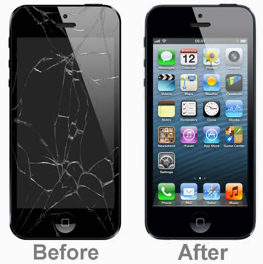 Mặt k�nh iPhone 5 hư hỏng