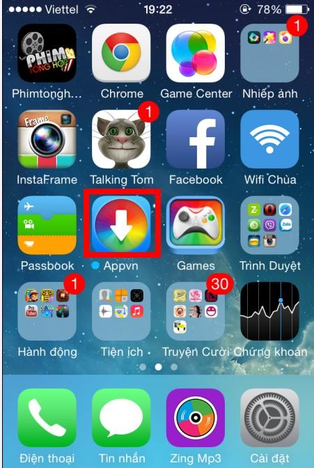 Cách cài đặt Appstorevn cho iPhone 6