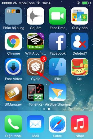 Ứng dụng Cydia cho iPhone 6