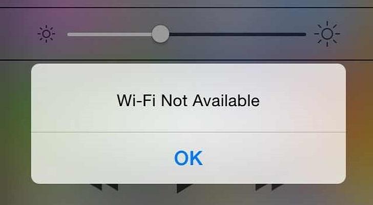 Wifi đang gặp lỗi mạng