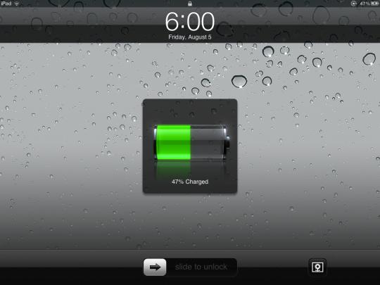 Sạc pin cho iPad và tiếp tục công việc